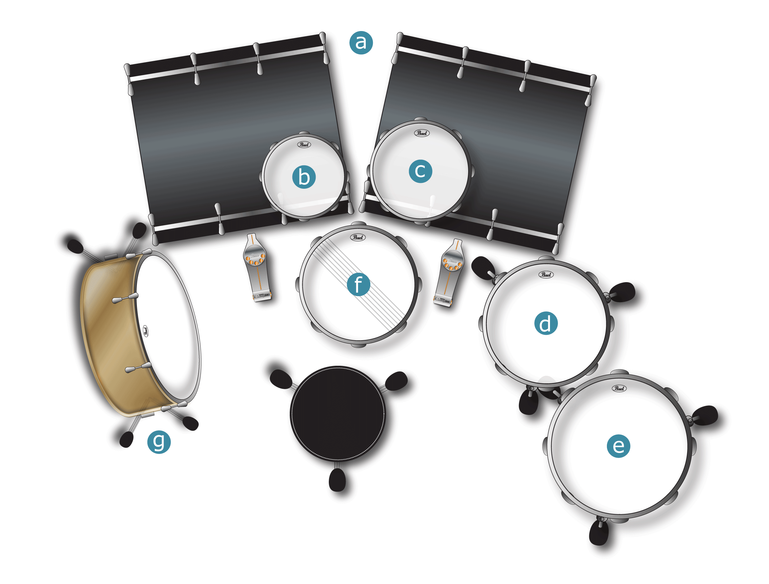 Kai Hatho Drum Set-up